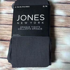 Jones New York's 2 pairs aplaque tights S/M